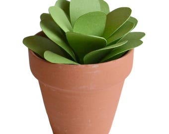 Paper Succulent in Small Terracotta Pot
