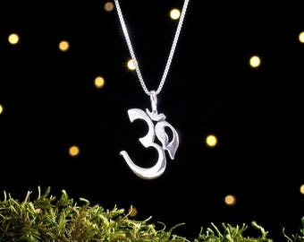 Sterling Silver Ohm - Yoga Jewelry - (Pendant or Necklace)