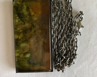 """Alcohol Ink Pendant with 24"""" chain"""