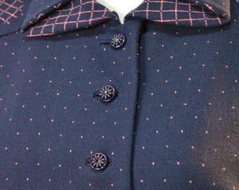 Levine n Smith Jacket 40s Blazer Gaberdine Jacket