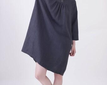 Charcoal Linen dress