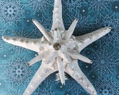 Christmas Tree Topper - Pearly Crystal Starfish Holiday Tree Topper