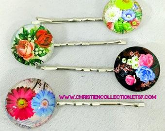 Flower Bobby Pins, Hair Accessories, Hair Jewerly, Bridesmaid hair pieces, Flower Girl, Natural Jewerly,Bridal Jewerly,Bobby Pins,Hairpins