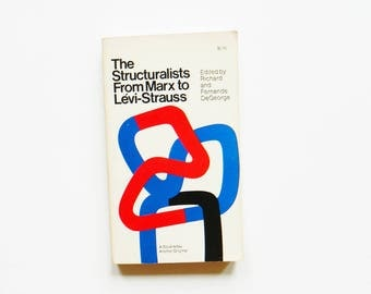 1970s Paperback Collection of Structuralist Thinkers / Structural Anthropology / Illustrated Cover / Vintage Book Decor