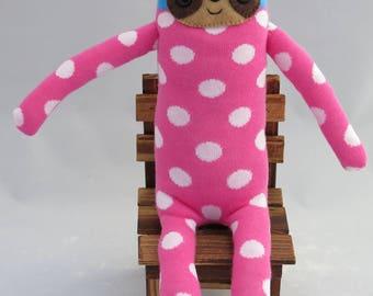 Pinky Sloth - Sloth Plush Sock Animal