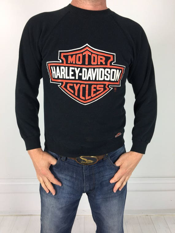 vintage 80s harley davidson sweatshirt motorcycle biker shirt