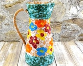 Mid Century Italian Pottery Pitcher by Fratelli Fanciullacci