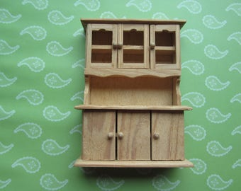 Miniature Dollhouse Furniture. Kitchen cabinet, Undecorated, Unpainted. No 330