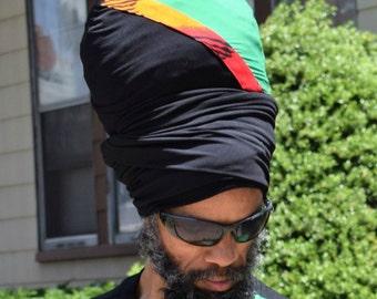 Fya King  EZ Wrap - Ready Wraps- Stretch Turban- Stretch Wraps-Men- Dread Locs Men- Choose a Length