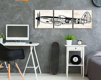 Toddler Room Ideas - Nursery Decor - Pilot Gift Idea - Aviation Nursery - Gift for Pilot - Aviation Decor - Airplane Boys Room - Plane Decor