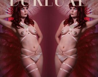 Elastic Burlesque Belt Choose a Colour of Elastic Made to Order
