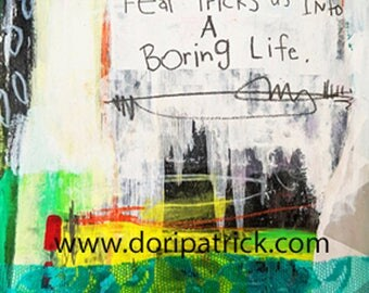 Fear Tricks Us 5x7 print
