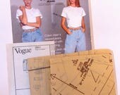 Vintage Vogue Calvin Klein Jeans or Shorts Pattern 2851 - Uncut