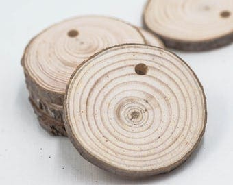 Natural Wood Pendant, 2 1/2 Inch, 10pcs, Wood Pendants, Round Pendants, Craft Supply
