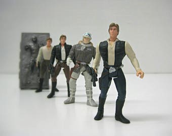 Star Wars Gift for Men, Han Solo Action Figure, Stranger Things Gift Idea for Him, 90s Star Wars Toy, Vintage Star Wars Lover Gift for Dad