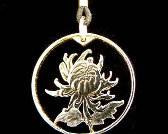 Cut Coin Jewelry - Pendant - China - Chrysanthemum