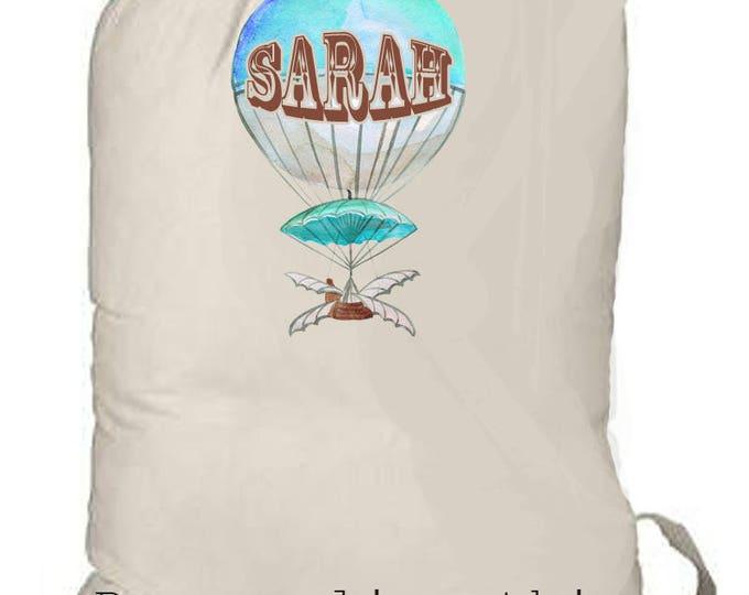 Canvas Backpack, Kids summer camp bag, laundry totebag, personalized weekender bag, children's bag, summer beach bag, camp bag, kids totebag