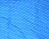 1 yard BLUE DOT FABRIC,   Blue, White, Crafts, Home Decor, Quilting, 5 yards Cotton Fabric,