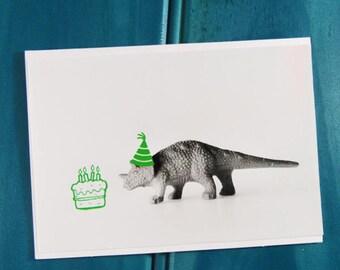 Feeling Green Dinosaur Blank Greeting Card