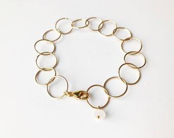 Gold Chain Bracelet, Layering Gold Bracelet, Minimal Gold Bracelet, Minimal Gold Jewelry, Chain Bracelet, Simple Chain Bracelet, Dainty Gold
