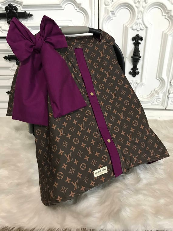 car seat canopy , LV car seat cover with matching Jumbo Bow
