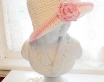Girls Summer Straw Hat, Childs Summer Straw Hat, Girls Hat, Flower Girls Straw Hat,  Beach Hat, by mailordervintage on etsy