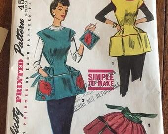 Vintage Apron Pattern Simplicity 4492