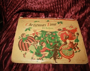vintage1949 Christmas Time in Action pop up Christmas book