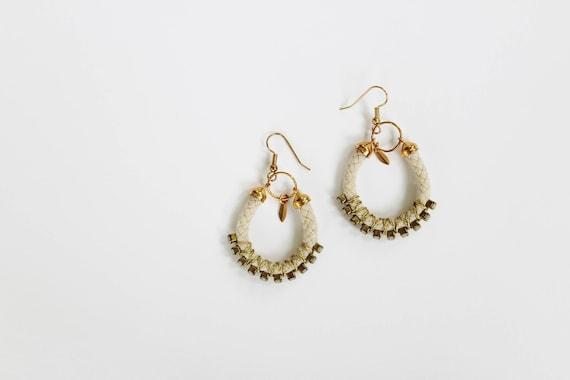 Cord & Opal Earrings