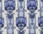 antique french art nouveau wallpaper lotus flower illustration digital download