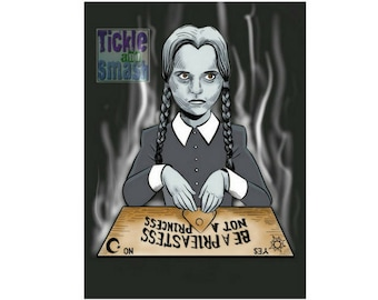 Ouija Greeting Card  - Priestess Not A Princess - Horror Greeting Card - TV Card, Witch Card, Priestess Card, Blank Card,  Snail Mail