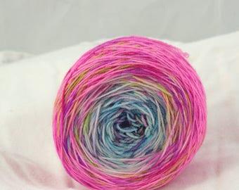 Merino Superwash Sock Yarn, Kawaii, Speckled Gradient, Hand Dyed
