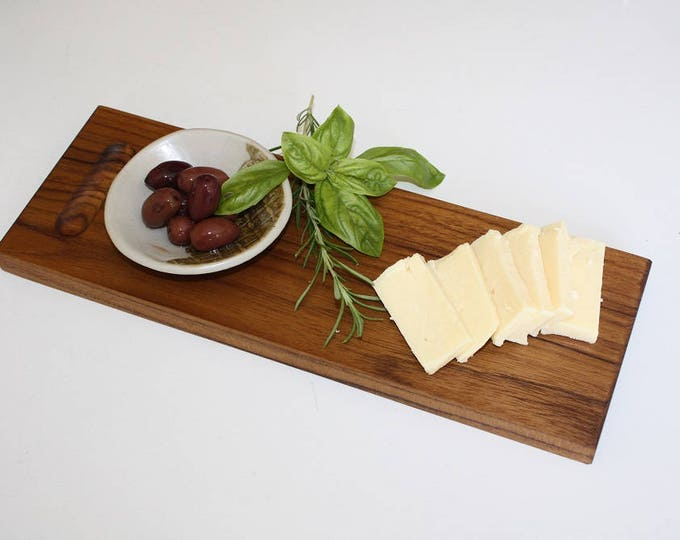 Featured listing image: Wood Cheese Board with Dipping Bowl