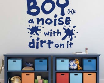 Boy Definition Noise With Dirt, Vinyl Wall Lettering, Vinyl Wall Decals, Vinyl  Letters