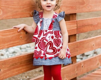Knot Right Now Top and Dress PDF Sewing Pattern, including sizes 3 months-12 years, Girls Dress Pattern
