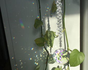 "Crystal Suncatcher, 8"" sun catcher, rainbow maker"