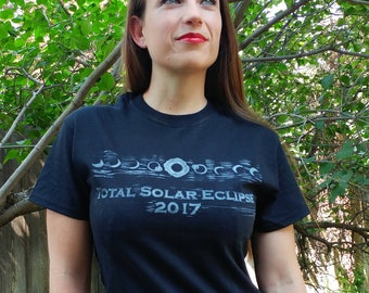 Solar Eclipse T-Shirt in Black Unisex Adult Sizes
