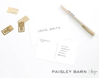 Minimalist Premium Business Cards | skincare, business, marketing, printed, men's, masculine, clean direct sales, Rodan, Fields,