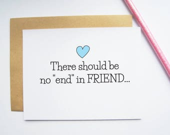 Birthday card for friend, friendship card