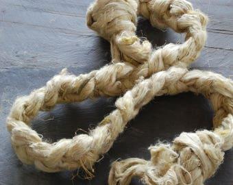 LOVAGE -HEMP Fiber ~Colour by nature~  fiber plant dyed - perfect for vegan needle felting