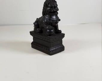 Vintage Qianlong Nian Zhi Foo Dog Figurine Statue Chinese