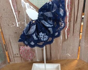 Blythe dark blue lace skirt