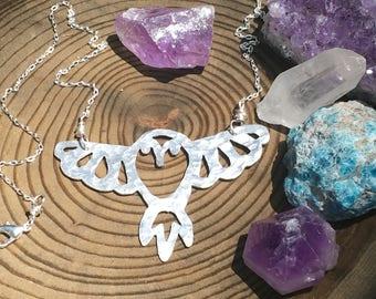 owl necklace, owl pendant necklace, owl jewelry, birds