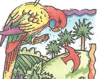 Vintage Australian Aerogramme - Parrot - South Australia