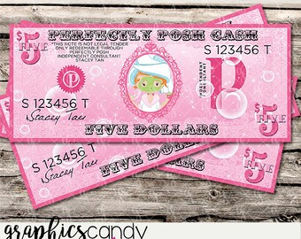 Perfectly Posh Independent Consultant Posh Cash Design - Gift Certificates - Loyalty Card - Thank You Gift - Multi Level Marketing - MLM