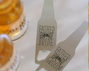 Father of the Bride, Father of the Groom Bottle Opener Gifts, Wedding Party Gifts, Father's Day Gifts for Dad