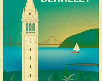 Berkeley Print, UC Berkeley Poster, Berkeley Wall Art, University of California Berkeley California Art - style E8-O-BERK