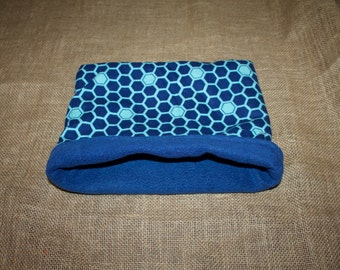 Blue Honeycomb pouch for small pets- Guinea Pigs, Chinchillas, Rats, Hedgehogs and more!