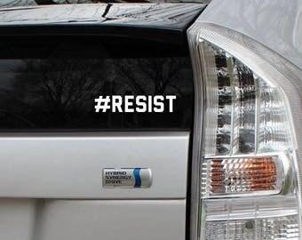 RESIST Vinyl Decal Die Cut Rub-On Sticker Bumper Political Liberal Car Laptop