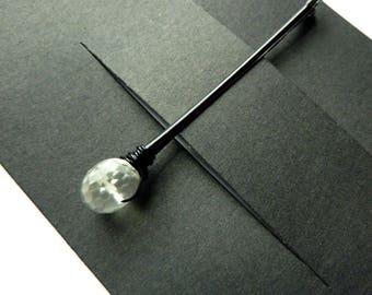 Green Amethyst Bobby Pin - Pale Green Stone - Gemstone Bobby Pin